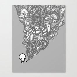 GHOST SMOKE Canvas Print
