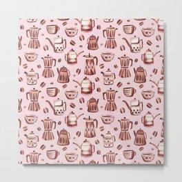 Percolator Pink Metal Print