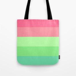 Watermelon Paradise Stripe Colour Palette Tote Bag