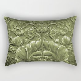 Celery Tooled Leather Rectangular Pillow
