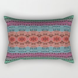 Understated Earth Gem Tone Aztec Boho Neo Tribal Rectangular Pillow