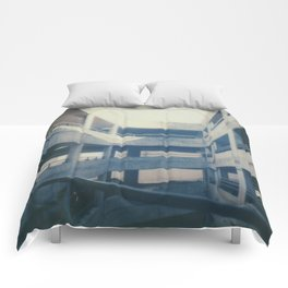 Polaroid lovers ~architecture Dundee Comforters