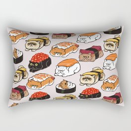 Sushi Persian Cat Rectangular Pillow