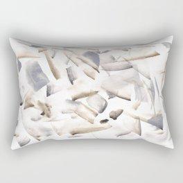 180630 Grey Black Brown Neutral Abstract Watercolour 4  Watercolor Brush Strokes Rectangular Pillow