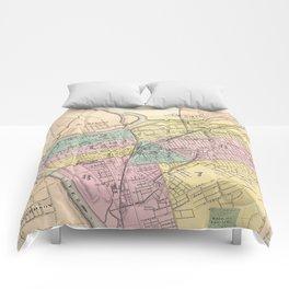 Vintage Map of Dayton Ohio (1872) Comforters