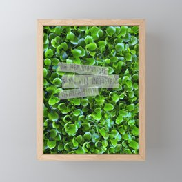 look deep into nature and understand everything better Framed Mini Art Print