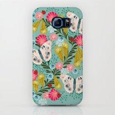 Buckeye Butterly Florals by Andrea Lauren  Galaxy S7 Slim Case