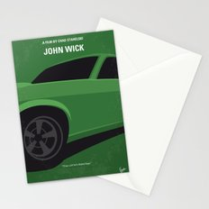 No759 My John Wick minimal movie poster Stationery Cards