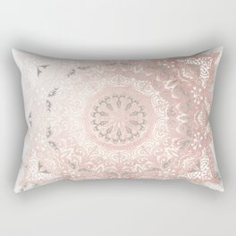Dreamer Mandal Rose Gold Rectangular Pillow