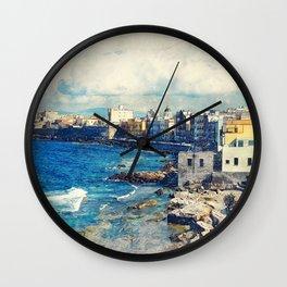 Trapani art 19 Sicily Wall Clock