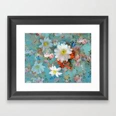 romantic flowers and butterflies Framed Art Print