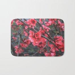 Crimson Blossoms Bath Mat