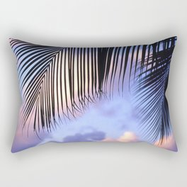 Tropical Palm Leaves at Sunset Rectangular Pillow