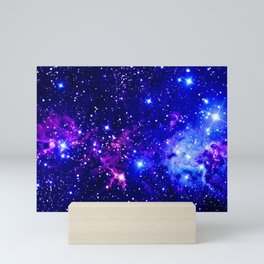 Fox Fur Nebula Galaxy blue purple Mini Art Print