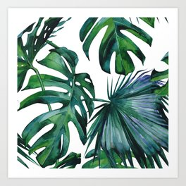 Tropical Palm Leaves Classic Art Print