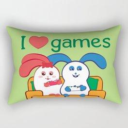 Ernest | Loves games Rectangular Pillow