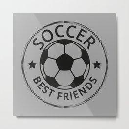 Soccer Best Friends I Metal Print