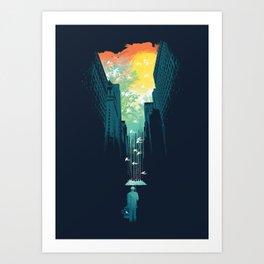 I Want My Blue Sky Art Print