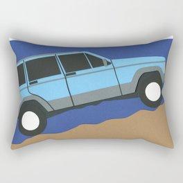 Blue SUV Rectangular Pillow