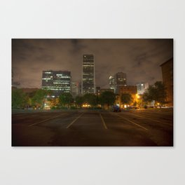 Parking in the Night Light Canvas Print