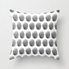 Watercolour polkadot black Throw Pillow