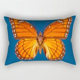 TEAL ORANGE MONARCH BUTTERFLY Rectangular Pillow