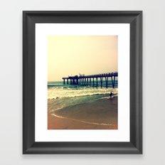 Shore at Dusk Framed Art Print