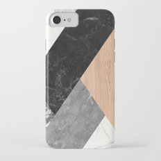 Marble and Wood Abstract iPhone 8 Slim Case