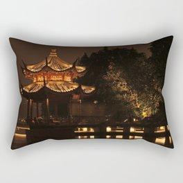 Chinese Pagoda on Lake Rectangular Pillow