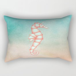 Geometric Animal: Seahorse Unicorn Rectangular Pillow