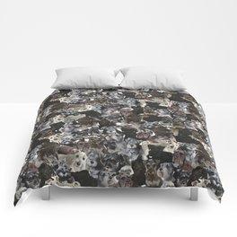 Schnauzer Collage Realistic Comforters