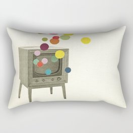 Colour Television Rectangular Pillow