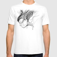 function White Mens Fitted Tee MEDIUM