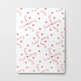 Visions Of Candy Canes Metal Print