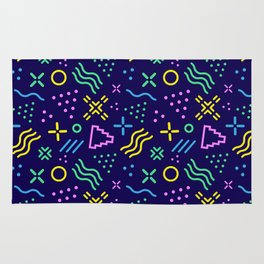 Retro 80s Shapes Pattern Rug