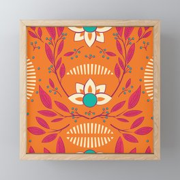 Flora Vibrant 003 Framed Mini Art Print