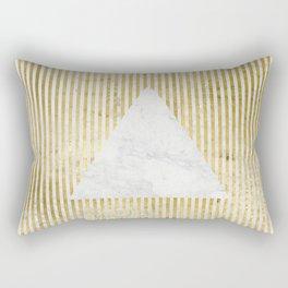 inverse trian gold Rectangular Pillow