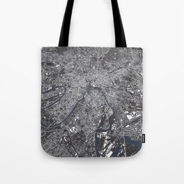 Moscow City Map Tote Bag