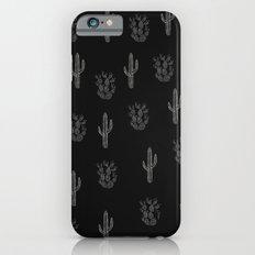 Cactus Pattern Black iPhone 6s Slim Case