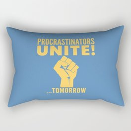 Procrastinators Unite Tomorrow (Blue) Rectangular Pillow