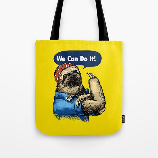 We Can Do It Sloth Tote Bag