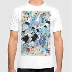 ON THE BEACH Mens Fitted Tee White MEDIUM