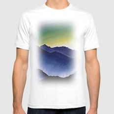 Mountain Landscape at Dusk MEDIUM White Mens Fitted Tee