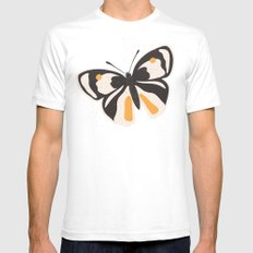 Gungry butterflies SMALL Mens Fitted Tee White