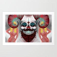 The Beast between us Art Print