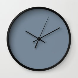 Slate grey plain color Wall Clock