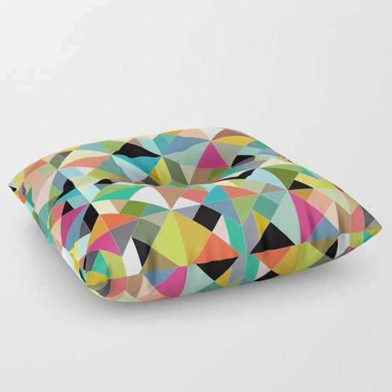 tangram geo multi Floor Pillow
