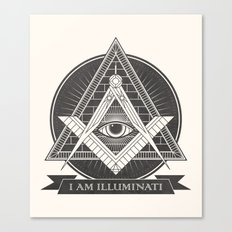 I am illuminati Canvas Print