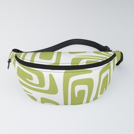 Mid Century Modern Cosmic Abstract 614 Olive Green Fanny Pack