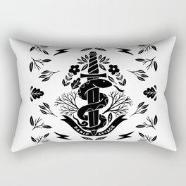 panic attack snake knife Rectangular Pillow